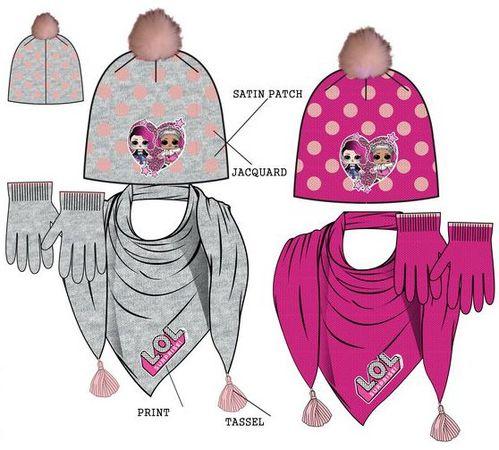 Gorro, bufanda y guantes de Lol Surprise - Regaliz Distribuciones Español