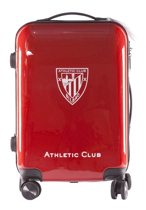 Maleta Trolley Rigida Abs 4 Ruedas 55cm Cabina Roja Athletic Club Bilbao