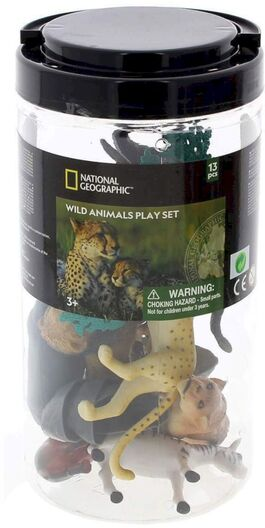 Figura animales National Geographic Cubo 13 Piezas Animales Salvajes (8 Fig + 5 Acc) (st6)
