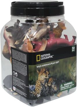Figura animales National Geographic Cubo 30 Piezas Animales Salvajes (20 Fig + 10 Acc) (st6)
