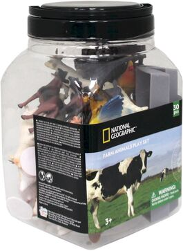 Figura animales National Geographic Cubo 30 Piezas Animales De Granja (20 F + 10 A) (st6)