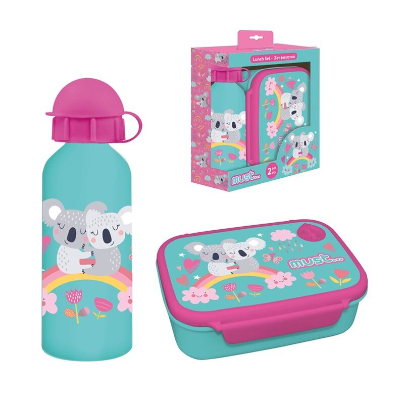 Set sandwichera + botella aluminio 500ml de Koala