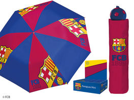 Paraguas plegable mini 54cm manual antiviento de Fc Barcelona