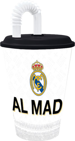 Vaso con tapa y caña 430ml de Real Madrid (0/24)