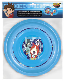 Set vaso, plato y cuenco de Yo-Kai Watch (0/12)