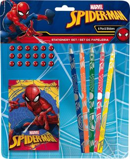 Set 6 piezas con pegatinas stickers de Spiderman (st48)