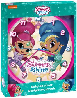 Reloj de pared 25cm de Shimmer And Shine (st12)