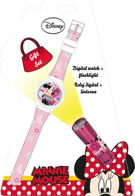 Set regalo reloj y linterna de Minnie Mouse