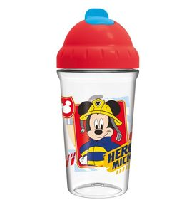 Vaso toddler con pajita flexible 295ml de Mickey Mouse 'To The Rescue' (12/72)
