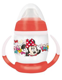 Taza entrenamiento 270ml con boquilla de silicona de Minnie Mouse 'Color Bows' (12/72)