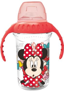 Taza entrenamiento grande 330ml boq. silicona de Minnie Mouse 'Color Bows' (12/72)
