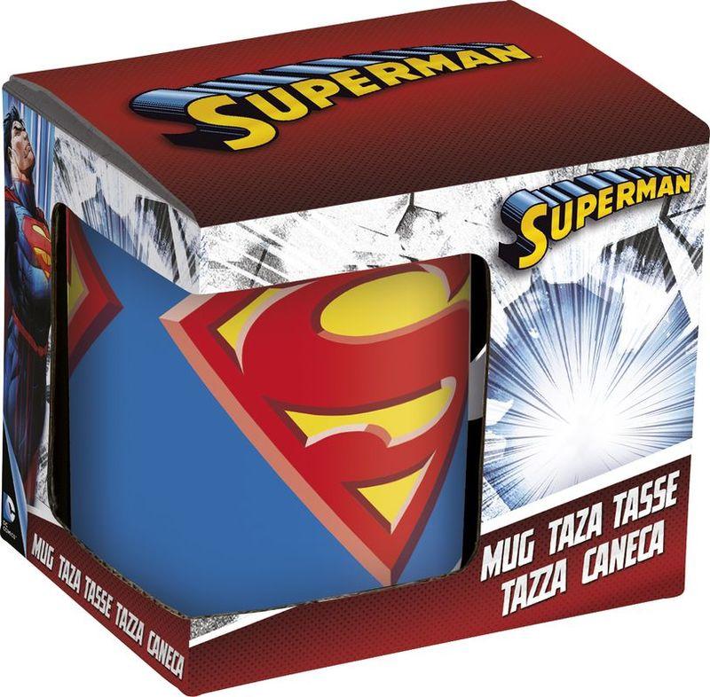 Taza Ceramica 325ml En Caja De Regalo De Superman Icon 12 36