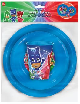 Set easy vaso, plato y cuenco de Pj Masks (0/12)