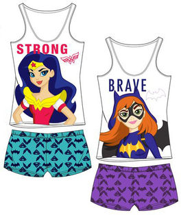 Pijama tirantes full print de Super Hero Girls