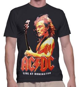 Camiseta adulto chico Ac/Dc 'Live At Donington' de colección Rock
