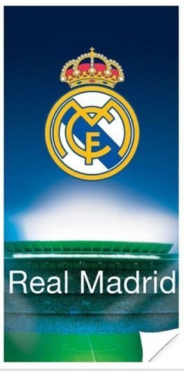 Toalla playa micro 70x140cm 250gr de Real Madrid
