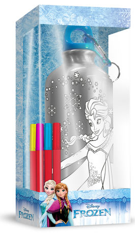 Botella cantimplora 500ml coloreable de Frozen (st24)