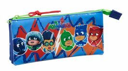 Estuche portatodo triple de Pjmasks 'World'