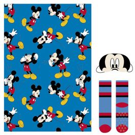 Set regalo manta, calcetines y antifaz de Mickey Mouse (6/6)