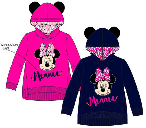Sudadera con capucha de Minnie Mouse - Regaliz Distribuciones English 45e12d48b99dc
