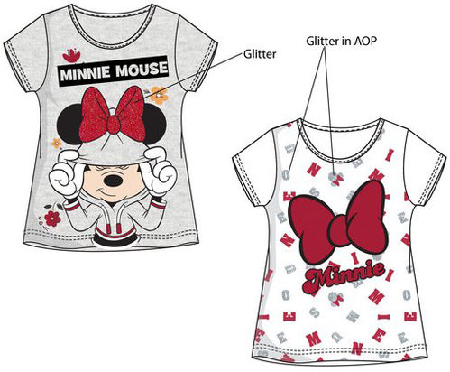 Camiseta algodón de Minnie Mouse
