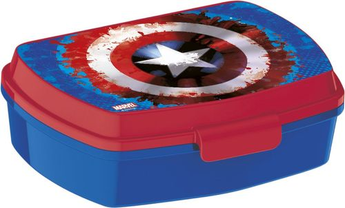 Sandwichera rectangular de Avengers Capitan America 'Icon' (0/24)